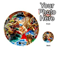 Thailand Bangkok Temple Roof Asia Playing Cards 54 (Round)
