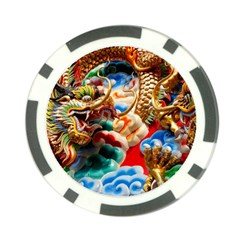 Thailand Bangkok Temple Roof Asia Poker Chip Card Guards