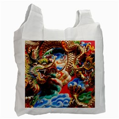 Thailand Bangkok Temple Roof Asia Recycle Bag (One Side)