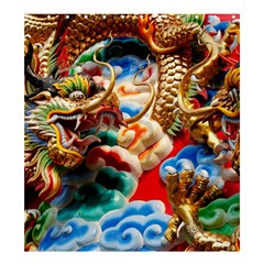 Thailand Bangkok Temple Roof Asia Shower Curtain 66  x 72  (Large)