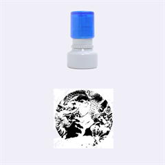 Thailand Bangkok Temple Roof Asia Rubber Round Stamps (Small)