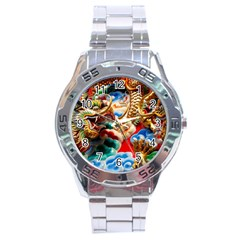 Thailand Bangkok Temple Roof Asia Stainless Steel Analogue Watch