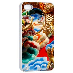 Thailand Bangkok Temple Roof Asia Apple iPhone 4/4s Seamless Case (White)