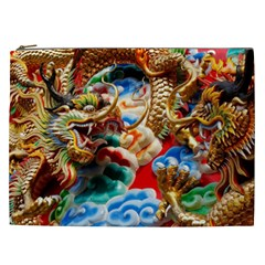 Thailand Bangkok Temple Roof Asia Cosmetic Bag (XXL)