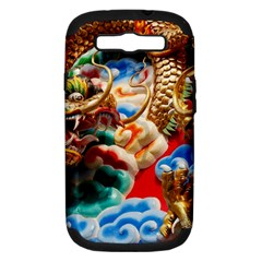 Thailand Bangkok Temple Roof Asia Samsung Galaxy S III Hardshell Case (PC+Silicone)