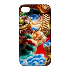Thailand Bangkok Temple Roof Asia Apple iPhone 4/4S Hardshell Case with Stand