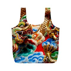 Thailand Bangkok Temple Roof Asia Full Print Recycle Bags (M)