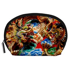 Thailand Bangkok Temple Roof Asia Accessory Pouches (Large)