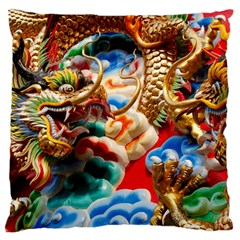 Thailand Bangkok Temple Roof Asia Standard Flano Cushion Case (One Side)