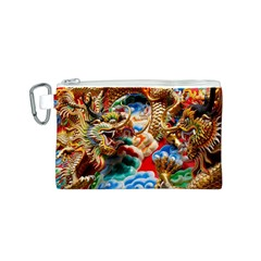 Thailand Bangkok Temple Roof Asia Canvas Cosmetic Bag (S)