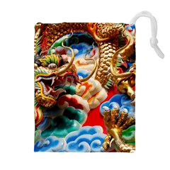 Thailand Bangkok Temple Roof Asia Drawstring Pouches (Extra Large)