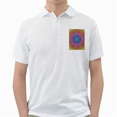Tile Background Pattern Texture Golf Shirts