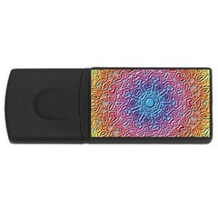 Tile Background Pattern Texture USB Flash Drive Rectangular (4 GB)