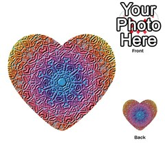 Tile Background Pattern Texture Multi-purpose Cards (Heart)