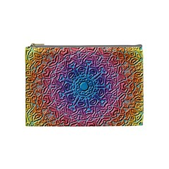 Tile Background Pattern Texture Cosmetic Bag (Medium)