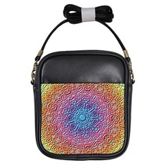 Tile Background Pattern Texture Girls Sling Bags