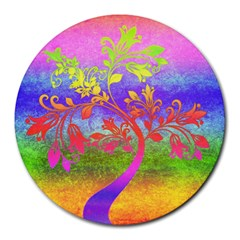 Tree Colorful Mystical Autumn Round Mousepads