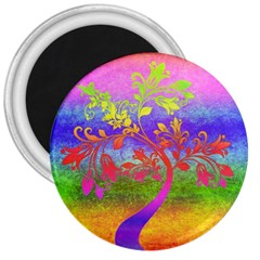 Tree Colorful Mystical Autumn 3  Magnets