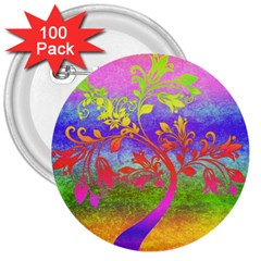 Tree Colorful Mystical Autumn 3  Buttons (100 pack)
