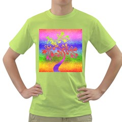 Tree Colorful Mystical Autumn Green T-Shirt