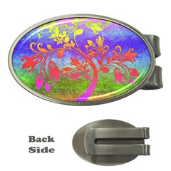 Tree Colorful Mystical Autumn Money Clips (Oval)