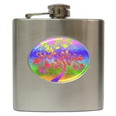 Tree Colorful Mystical Autumn Hip Flask (6 oz)