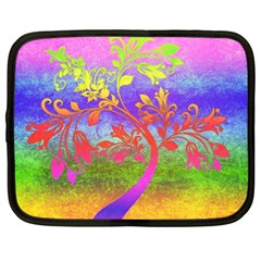 Tree Colorful Mystical Autumn Netbook Case (Large)
