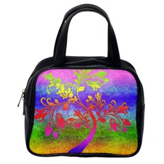 Tree Colorful Mystical Autumn Classic Handbags (One Side)