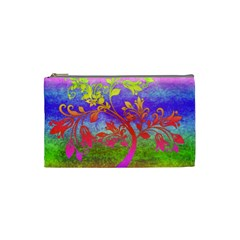Tree Colorful Mystical Autumn Cosmetic Bag (Small)