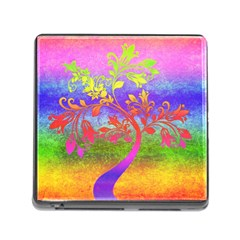 Tree Colorful Mystical Autumn Memory Card Reader (Square)