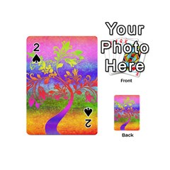 Tree Colorful Mystical Autumn Playing Cards 54 (Mini)