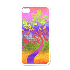 Tree Colorful Mystical Autumn Apple iPhone 4 Case (White)