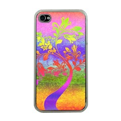 Tree Colorful Mystical Autumn Apple iPhone 4 Case (Clear)