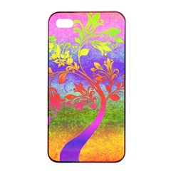 Tree Colorful Mystical Autumn Apple iPhone 4/4s Seamless Case (Black)