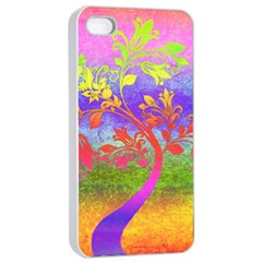 Tree Colorful Mystical Autumn Apple iPhone 4/4s Seamless Case (White)