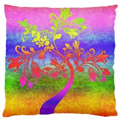 Tree Colorful Mystical Autumn Large Cushion Case (Two Sides)
