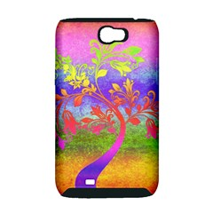 Tree Colorful Mystical Autumn Samsung Galaxy Note 2 Hardshell Case (PC+Silicone)