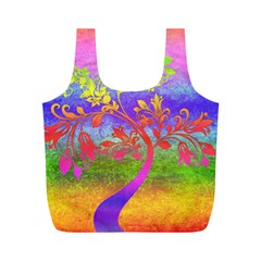 Tree Colorful Mystical Autumn Full Print Recycle Bags (M)