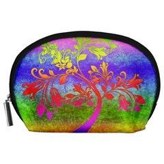 Tree Colorful Mystical Autumn Accessory Pouches (Large)