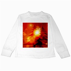 Tree Trees Silhouettes Silhouette Kids Long Sleeve T-Shirts