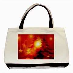 Tree Trees Silhouettes Silhouette Basic Tote Bag (Two Sides)