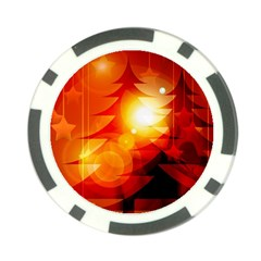 Tree Trees Silhouettes Silhouette Poker Chip Card Guards