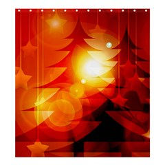 Tree Trees Silhouettes Silhouette Shower Curtain 66  x 72  (Large)