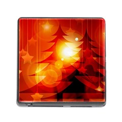 Tree Trees Silhouettes Silhouette Memory Card Reader (Square)