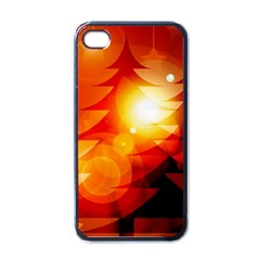 Tree Trees Silhouettes Silhouette Apple iPhone 4 Case (Black)