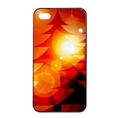 Tree Trees Silhouettes Silhouette Apple iPhone 4/4s Seamless Case (Black)