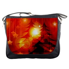 Tree Trees Silhouettes Silhouette Messenger Bags