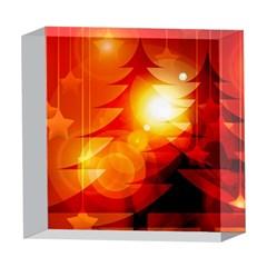 Tree Trees Silhouettes Silhouette 5  x 5  Acrylic Photo Blocks