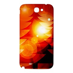Tree Trees Silhouettes Silhouette Samsung Note 2 N7100 Hardshell Back Case