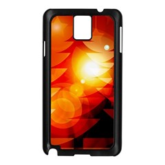 Tree Trees Silhouettes Silhouette Samsung Galaxy Note 3 N9005 Case (Black)